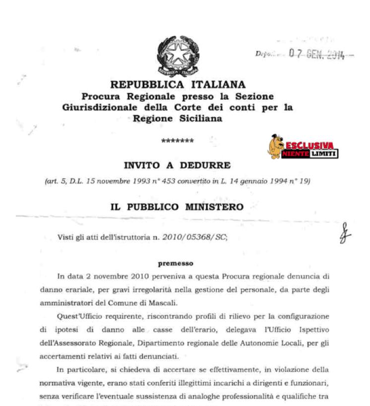 La nota della Corte dei Conti sui danni erariali di Mascali – DOCUMENTO