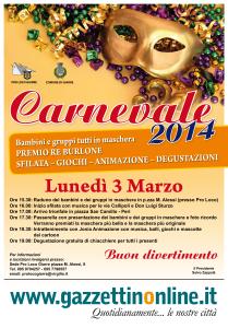 Programma Carnevale 2014.Sfilata 3 Marzo