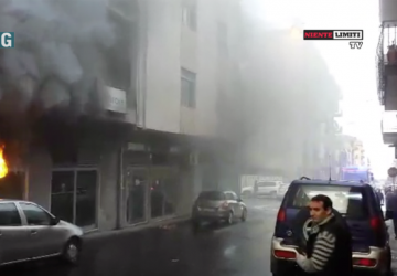 Incendio banca Carige VIDEO ESCLUSIVO