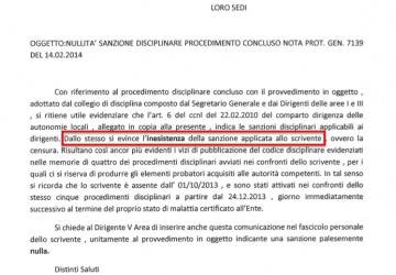 Censurati i procedimenti disciplinari al dirigente finanziario Lipari?