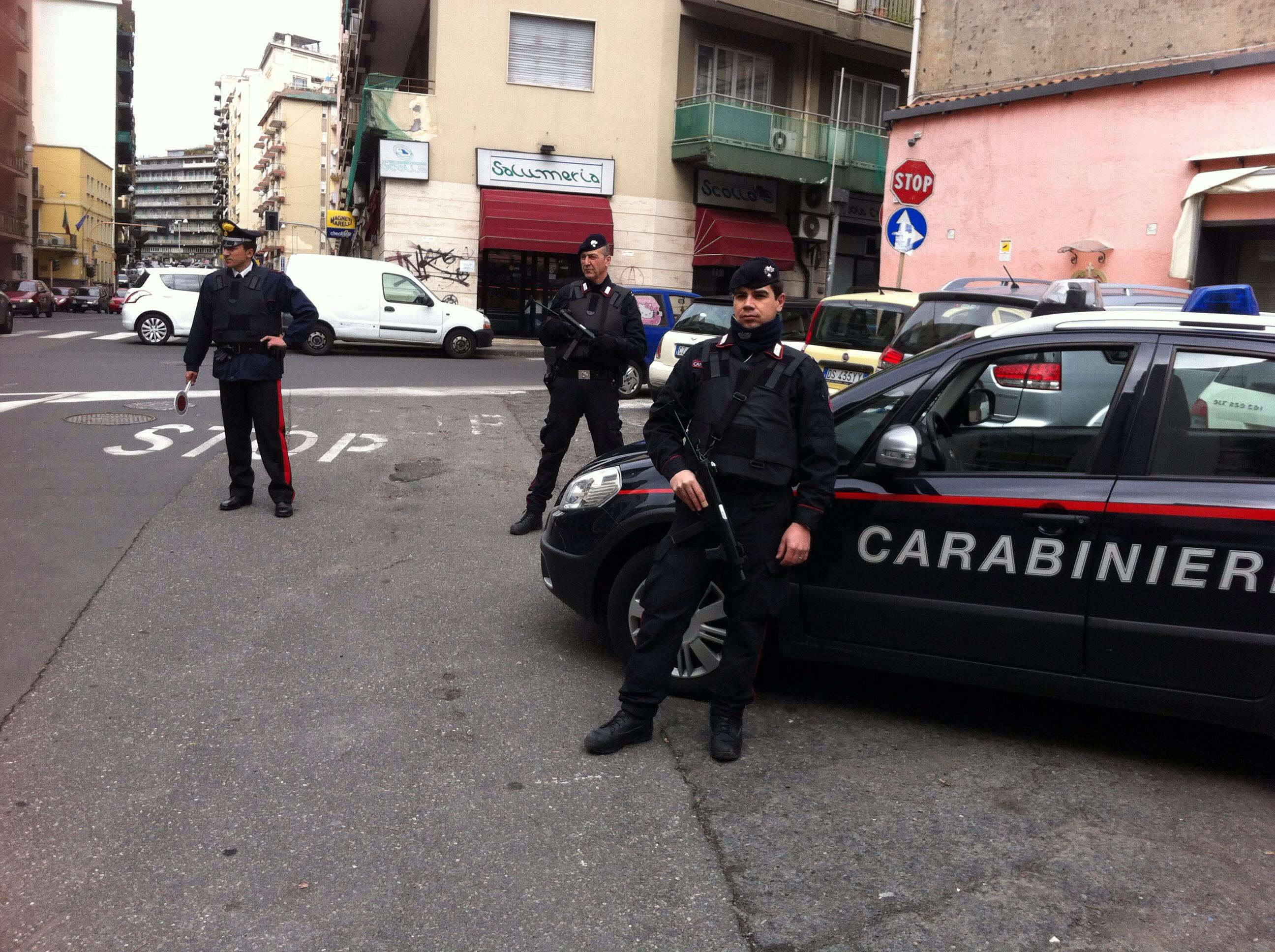 Servizio coordinato Cc Catania