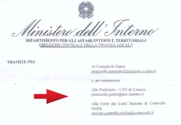 Giarre, la nota ministeriale sul Piano di Riequilibrio: fine del segreto
