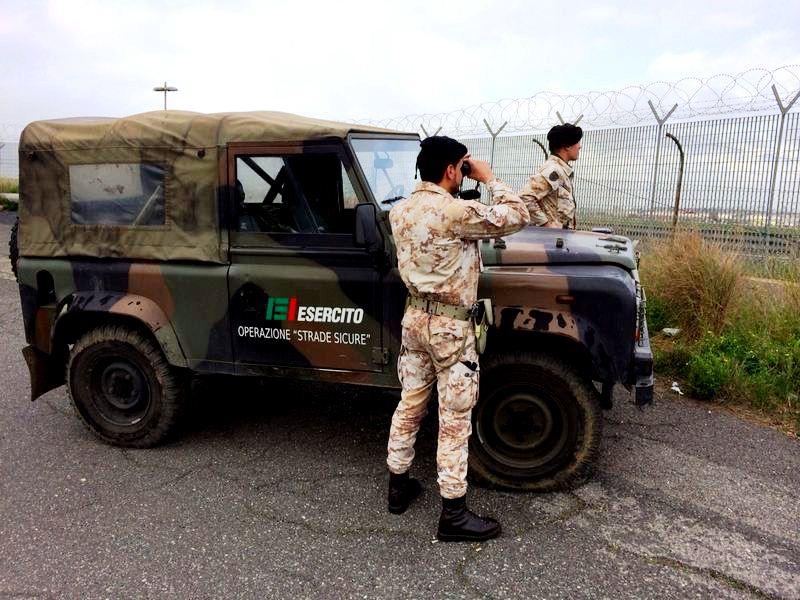 Catania, operazione Strade Sicure Esercito: un arresto per furto