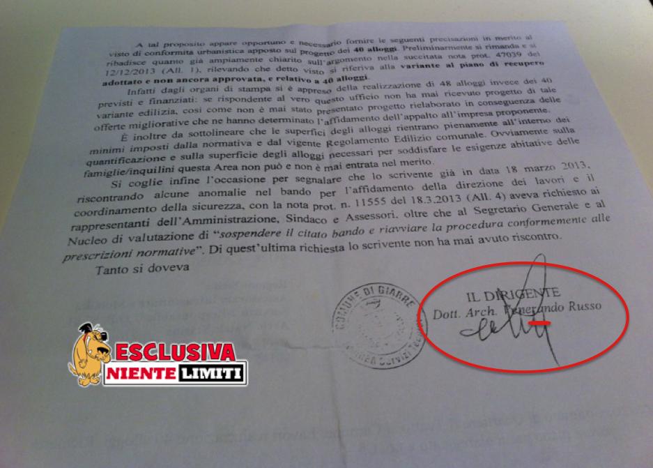Giarre, Contratto di quartiere: il dirigente Venerando Russo denuncia gravi illegalità e attacca la Leonardi