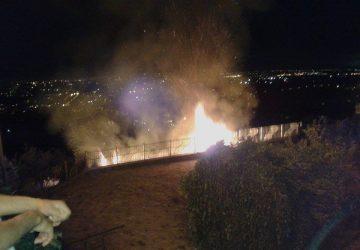 Miscarello, incendio durante i festeggiamenti della Madonna del Rosario