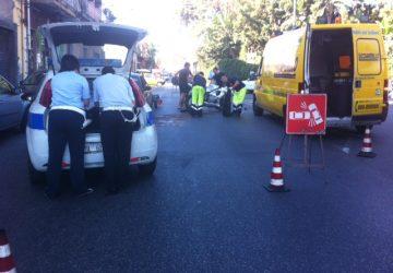 Giarre, incidente stradale sul viale Sturzo. Ferito un centauro di Nunziata