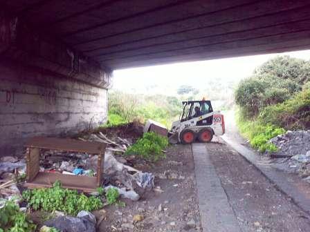 S. Maria la Strada: al via i lavori per il canale di gronda