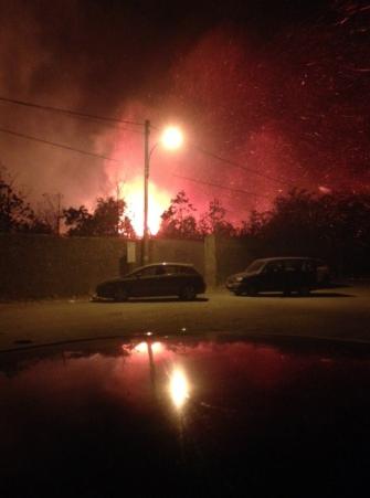 Fiumefreddo: vasto incendio a Marina di Cottone FOTO ESCLUSIVE