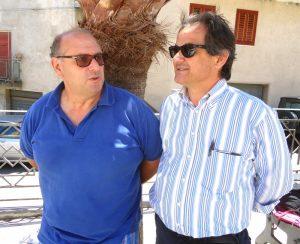 Da sinistra: Salvatore Romano ed il sindaco D'Amore
