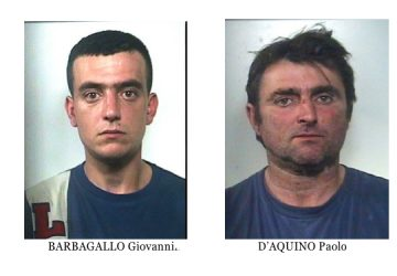 Giarre, due arresti per furto