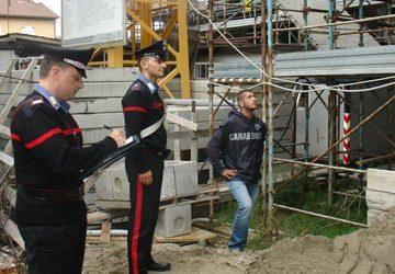 Cantieri edilizi, controlli serrati dei carabinieri