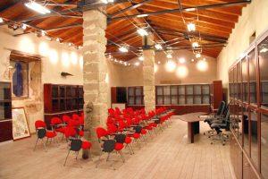 Interno dell'Enoteca Regionale di Castiglione di Sicilia