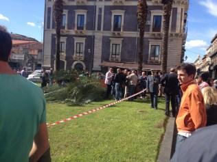 Catania, donna di 49 anni travolta da una palma in piazza Cutelli