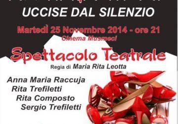 """Riposto, """"Femminicidio: anno zero – Uccise dal silenzio"""""""