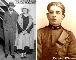 D.H. Lawrence, Frieda Richthofen e Peppino D'Allura