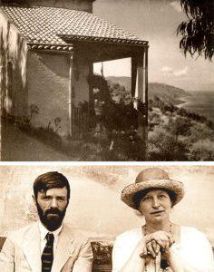 D.H. Lawrence e Frieda Richthofen e la loro casa a Taormina in Via Fontana Vecchia