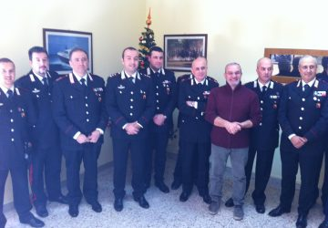 Giarre, scambio di auguri stampa-carabinieri