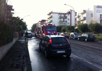 Giarre, divampa un incendio in un appartamento di viale Moro