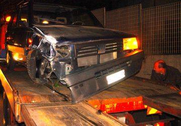 Riposto, incidente autonomo in via Strada Franca: un ferito