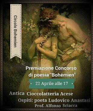 Acireale, il poeta Ludovico Anastasi in un incontro del Circolo Bohémien