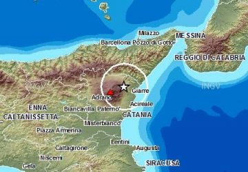 Terremoto registrato nella zona jonico etnea
