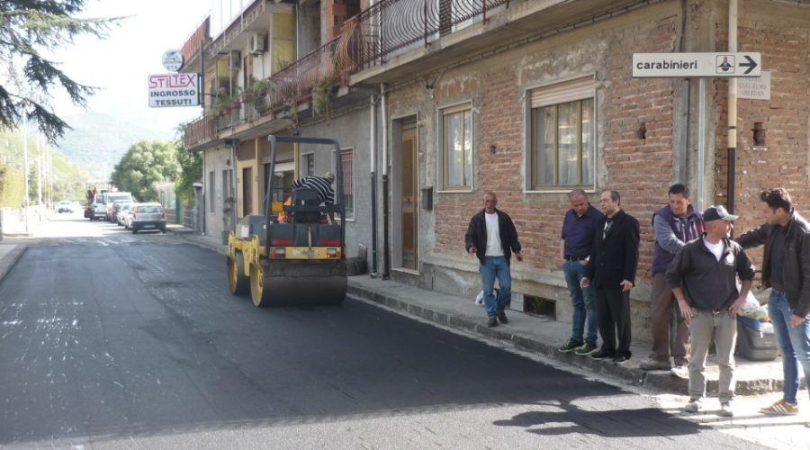Calatabiano, conclusi i lavori di via Trifilò
