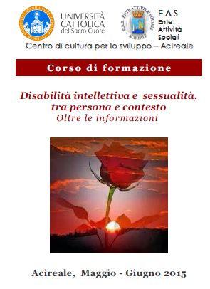 Acireale, corso in disabilità intellettiva e sessualità