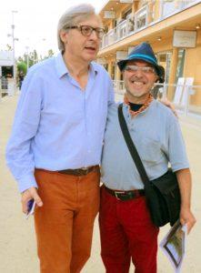 Carmine Susinni con Vittorio Sgarbi