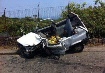 Mascali: grave incidente. Un morto VD
