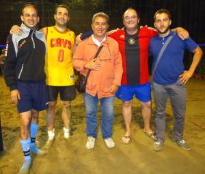 Da sinistra Antonio Scirto, Giovanni Tosto, Filippo Zullo, Antonino Vaccaro e Salvatore Vittorio Zullo