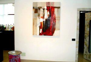 L'opera astratta 'Soul' di Roberto Fradale esposta alla Galleria Art Studio 38 di Milano