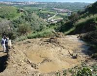 """Preoccupazione a Calatabiano: le intense piogge """"dissestano"""" la collina di contrada Piraino"""