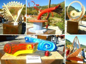 Francavilla di Sicilia, alcune delle installazioni realizzate dagli studenti del Liceo Artistico Basile di Messina per il Parco Suburbano Madonna Gala