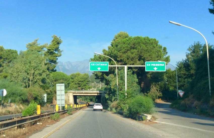 A18 Messina-Catania: lavori al verde nella tratta Fiumefreddo – San Gregorio