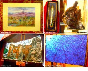 01 Francavilla di Sicilia, alcune delle opere esposte a Palazzo Cagnone dagli artisti della Galleria Katane