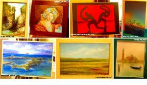 02 Francavilla di Sicilia, alcune delle opere esposte a Palazzo Cagnone dagli artisti della Galleria Katane