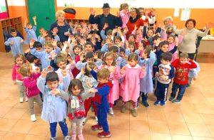 Don Giovanni Salvia alla Scuola dell'Infanzia di Francavilla di Sicilia