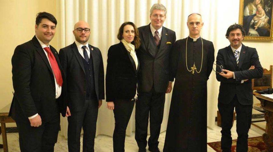 Acireale, il principe di Montenegro Stephan Cernetic ha incontrato il Vescovo mons. Antonino Raspanti