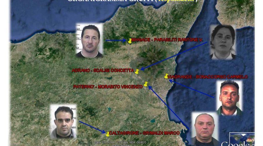 """Operazione """"Viceré"""": da Adrano a Paternò la lunga mano dei Laudani"""