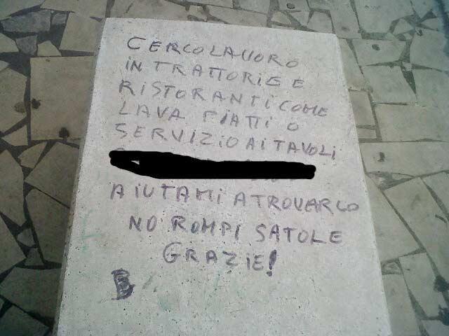 """""""Cosi 'i Catania"""": non c'è lavoro. Ma c'è chi si """"runa vessu"""""""