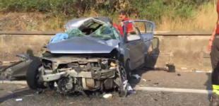A18, incidente nei pressi del casello di Giarre. Interviene elisoccorso  VIDEO
