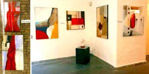 Alcune opere pittoriche astratte di Roberto Fradale recentemente esposte a Roma nelle Sale del Bramante ed al P.A.N di Napoli