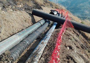 Calatabiano: sostitutuito il tratto di condotta idrica danneggiata due anni fa da una frana
