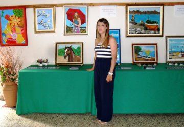 Giarre, pittura: Chiara Rapisarda, con successo. Otre 500 visitatori alla sua mostra.