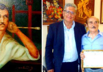 Francavilla di Sicilia, il sindaco Lino Monea ed il pittore Antonio Sgarlata