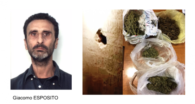 Catania: spacciava attraverso un foro nel muro di casa sua. Arrestato