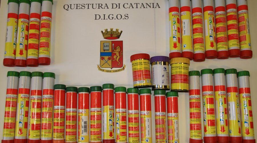 Aci Castello, visita Matteo Salvini: sequestrati dalla Digos numerosi fumogeni