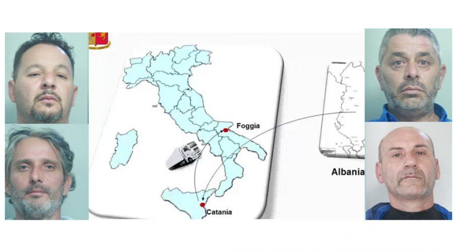 Catania, scoperto tir con 162 kg di droga. Quattro arresti VIDEO