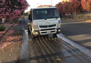 Riposto, al via la sanificazione delle strade