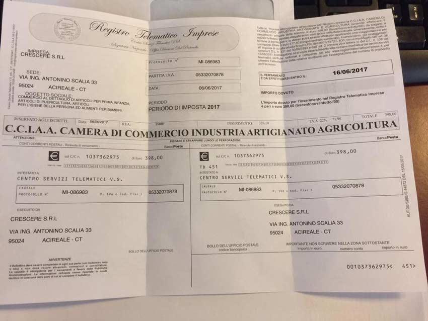 Acireale, truffa in corso: falso bollettino in una busta intestata al Comune
